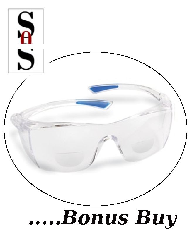 Reading Eyewear - 2.0 Diopter with Clear Lens and Clear Frame