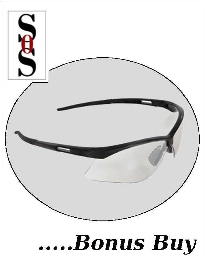QuartzSight Eyewear - Clear Indoor/Outdoor Lens and Black Frame