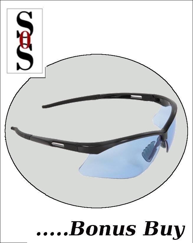 Premier Eyewear - Blue Polycarbonate Lens and Black Frame