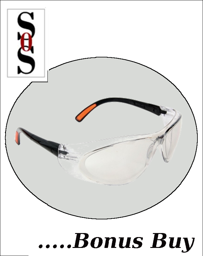 Action Eyewear with Clear Frame And Clear  Indoor/Outdoor  Lens