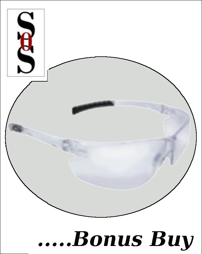 Classic Plus Eyewear with Clear Frame And Clear Anti-Fog Polycarbonate Hard Coat Lens