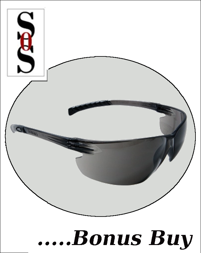 Classic Plus Eyewear with Gray Frame And Gray Polycarbonate Hard Coat Lens