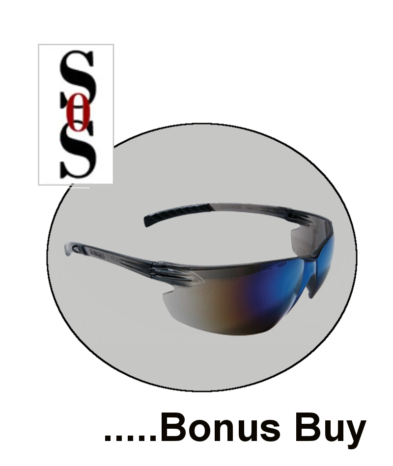 Classic Plus Eyewear with Gray Frame And Blue Polycarbonate Hard Coat Mirror Lens