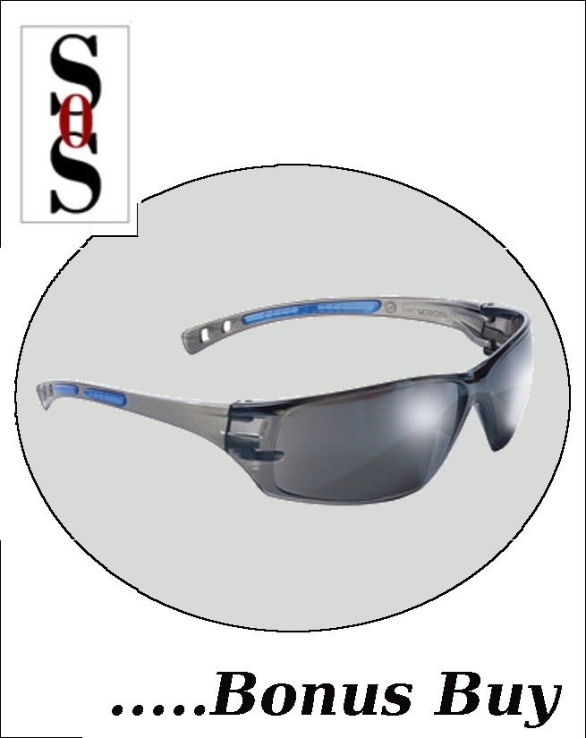 Cobalt Eyewear with Charcoal Frame, Silver Mirror Lens and Adjustable Temples