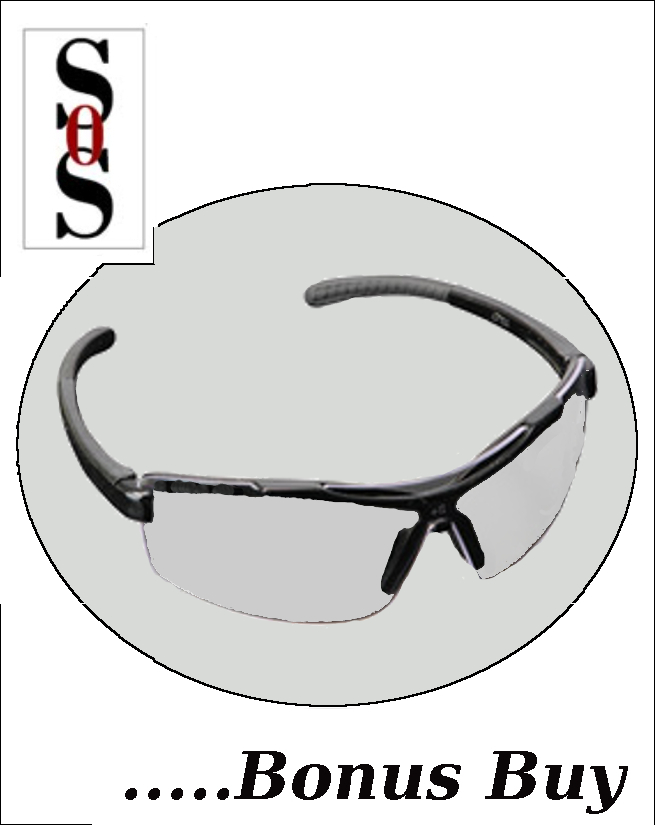 Image Eyewear with Black Frame And Clear Polycarbonate Lens