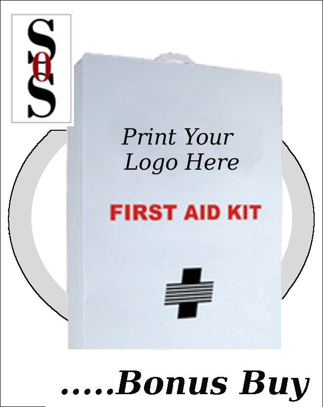 Empty Five-Shelf 100 Person First Aid Cabinet/Liner