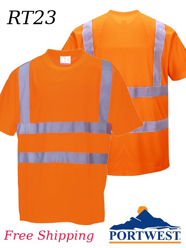 Portwest RT23, Hi-Vis No Collar T-Shirt/SHIPPING INCLUDED/$ per Shirt