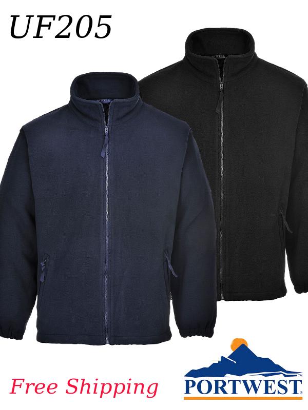 Portwest UF205, Aran Fleece Sweatshirt - Navy and Black/SHIPPING INCLUDED/$ per Shirt