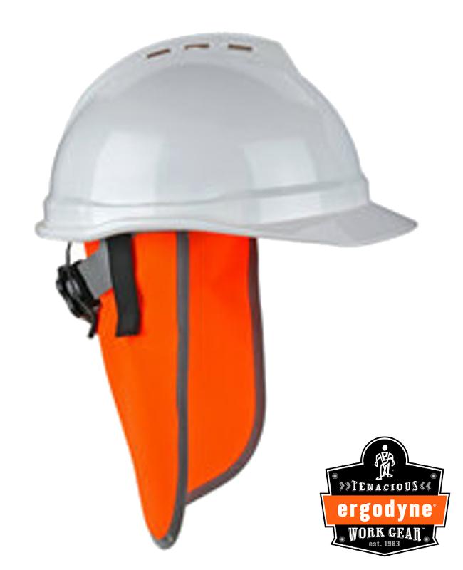 Ergodyne Orange Glowear 8006 Polyester Solid Fabric Neck Shade With Hook And loop Closure / Minimum Order 12