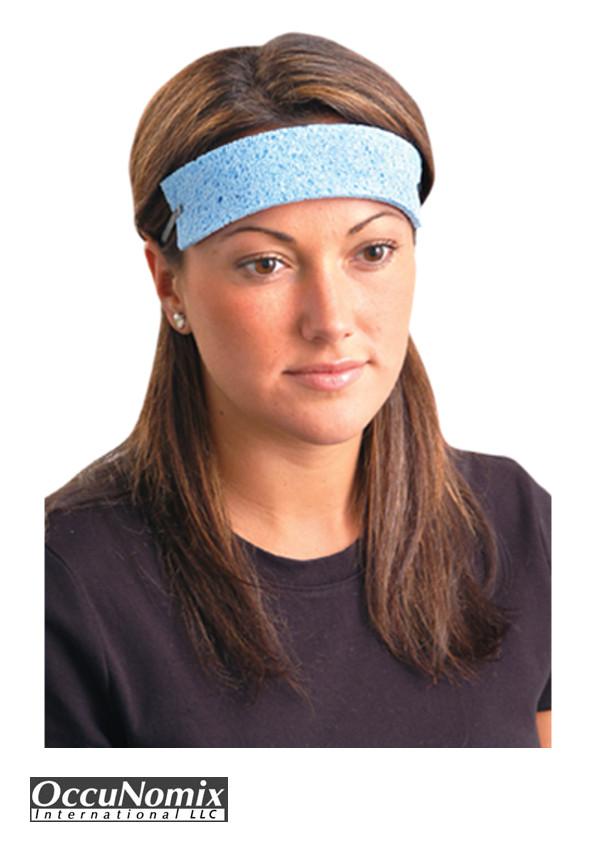 OccuNomix Blue Cellulose Sweatbands, 100 Pack
