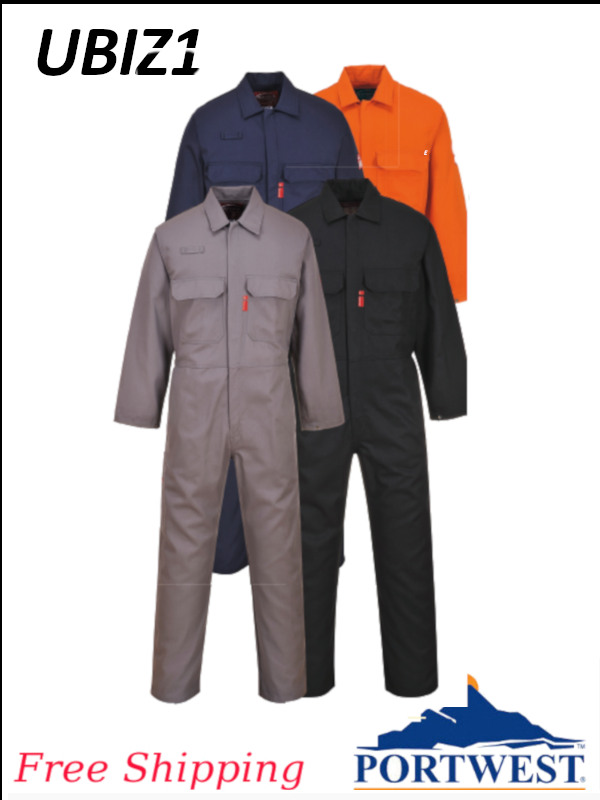 Portwest UBIZ1, Bizweld Flame Resistant Coverall, ARC 2 - SHIPPING INCLUDED/$ per Coverall