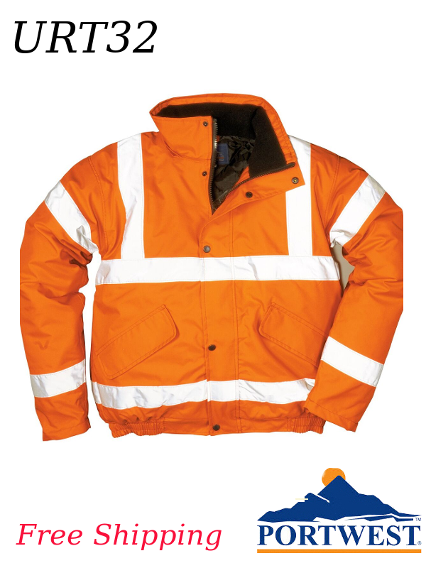 Portwest URT32, Hi-Vis Bomber Jacket/FREE SHIPPING/$ per Jacket
