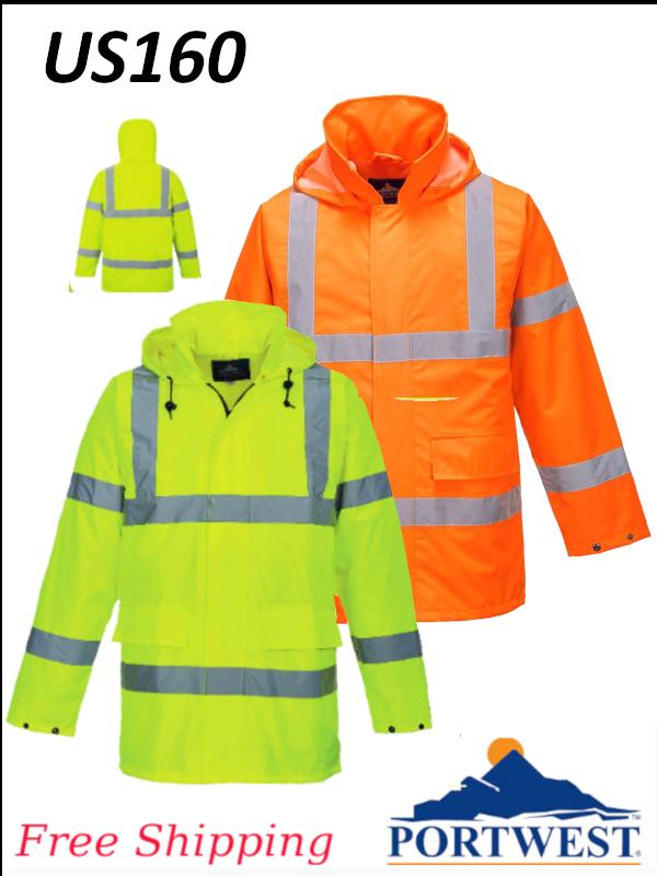 Portwest US160, Hi-Vis Lite Traffic/Rain Jacket/FREE SHIPPING/$ per Jacket