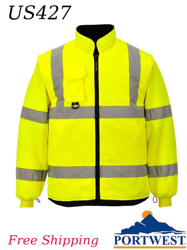 Portwest US427, Hi-Vis 7-in-1 Traffic Jacket/FREE SHIPPING/$ per Jacket
