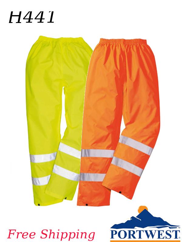 Portwest H441, Hi-Vis Yellow and/or Orange Rain Pants/FREE SHIPPING/$ per Pair