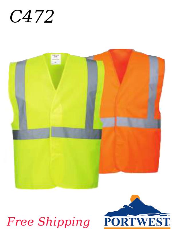 Portwest C472, Hi-Viz One Band and Brace, One Stripe Vest/SHIPPING INCLUDED/$ per Vest
