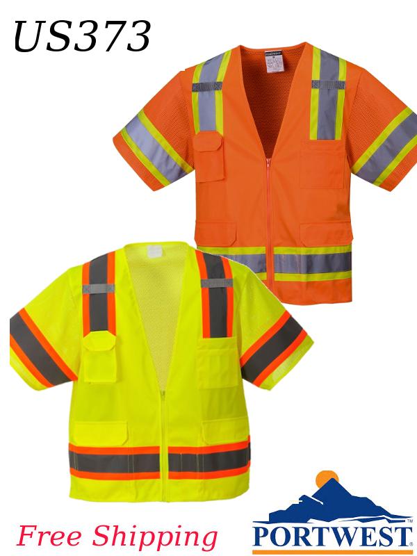 Portwest US373, Aurora Sleeved Hi-Vis Zippered Vest, Class 3/SHIPPING INCLUDED/$ per Vest