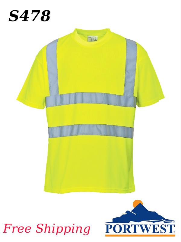 Portwest S478, Hi-Vis T-Shirt/SHIPPING INCLUDED/$ per Shirt