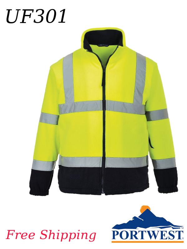 Portwest UF301, Hi-Vis Two-Tone Fleece Sweatshirt/FREE SHIPPING/$ per Shirt