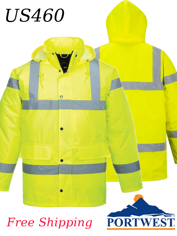 Portwest US460, Insulated Hi-Vis Traffic Jacket/FREE SHIPPING/$ per Jacket