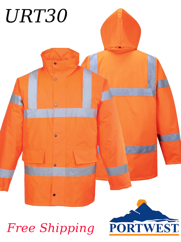 Portwest URT30, Hi-Vis Traffic Jacket, Class 3/FREE SHIPPING/$ per Jacket