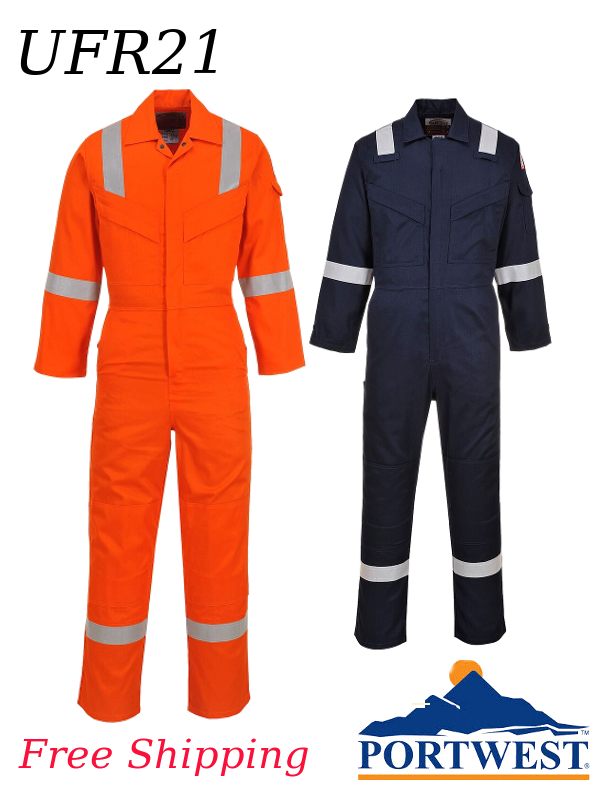 Portwest UFR21, Super Light Weight Bizflame Anti-Static Coverall/SHIPPING INCLUDED/$ per Coverall