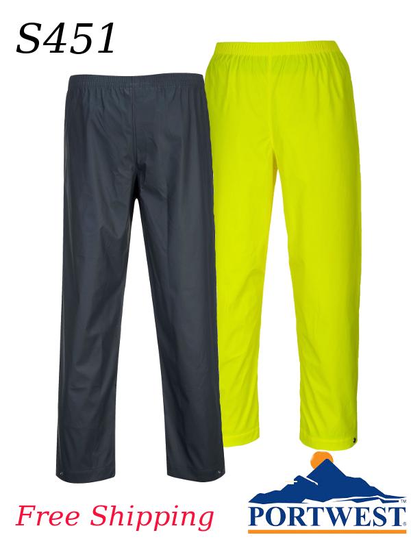 Portwest S451, Sealtex Classic Waterproof, Flexible, and Durable Rain Pant/FREE SHIPPING/$ per Pair