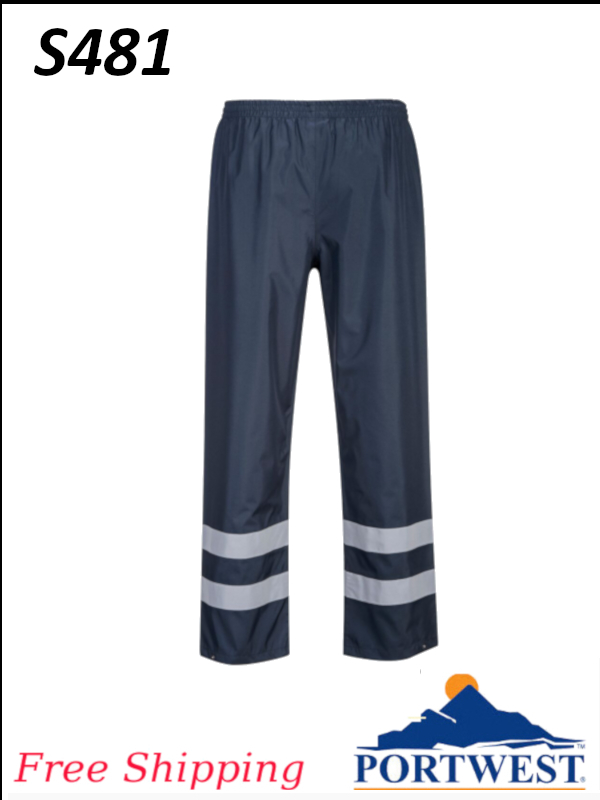 Portwest S481, Iona Lite Waterproof Rain Pants/FREE SHIPPING/$ per Pair