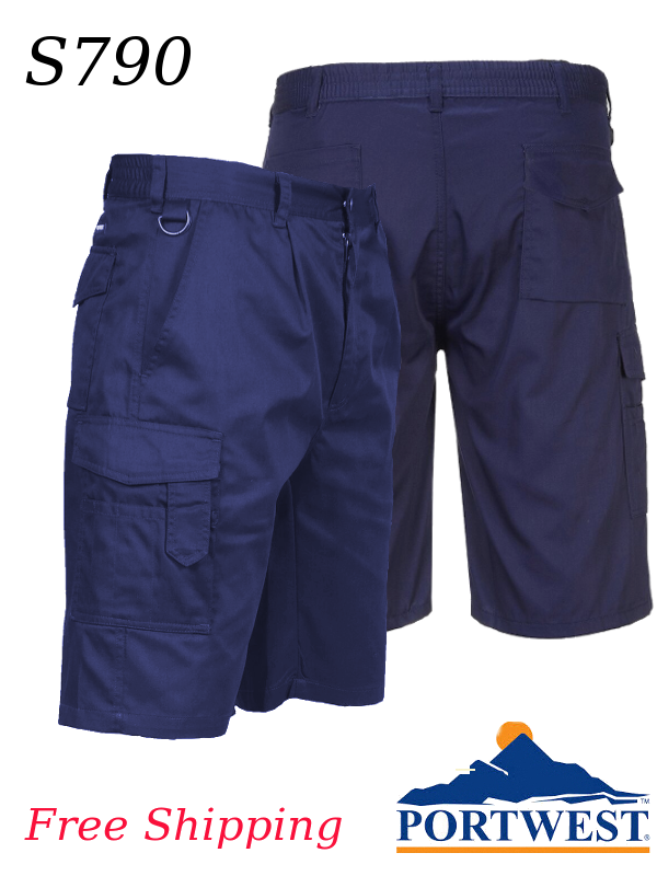"""Portwest S790, 11"""" Cargo Shorts/SHIPPING INCLUDED/$ per Pair"""
