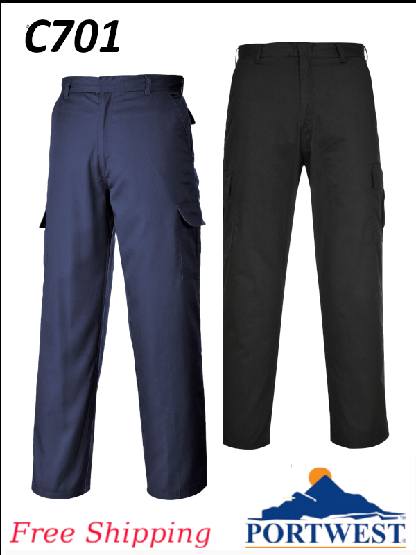 Portwest C701, Cargo/Combat Work Pants in Regular and Tall Sizes/FREE SHIPPING/$ per Pair