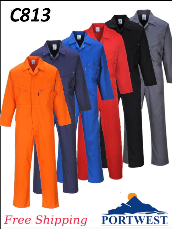 Portwest C813, Liverpool Zipper Coverall - Designed to Stay Looking Good/FREE SHIPPING/$ per Coverall