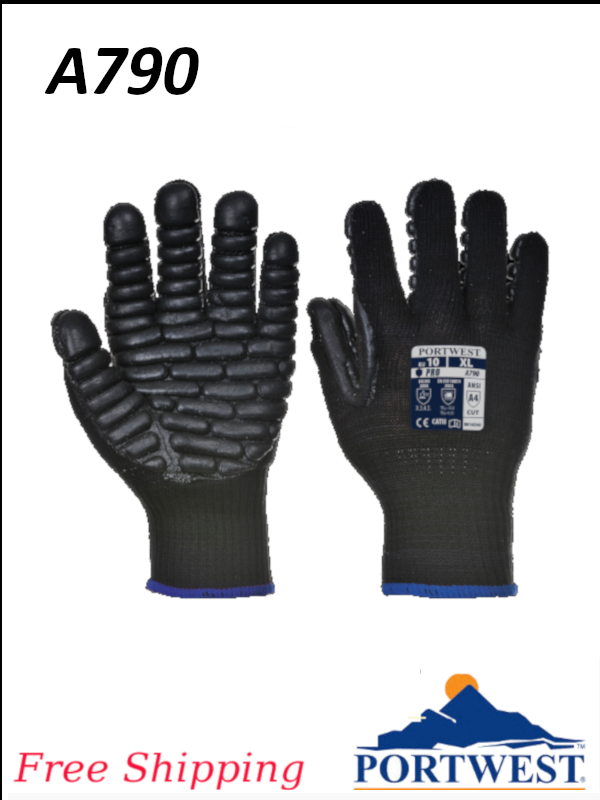 Portwest A790, Anti Vibration Glove, Designed for Specialist Tasks/FREE SHIPPING/$ per Pair