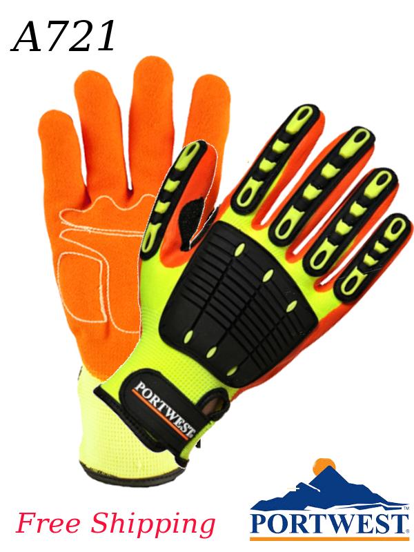 Portwest A721, Anti-Impact Grip Gloves/FREE SHIPPING/$ per Pair