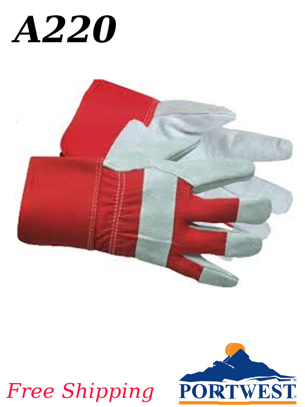 Portwest A220, Premium Chrome Rigger Glove/FREE SHIPPING/$ per Pair