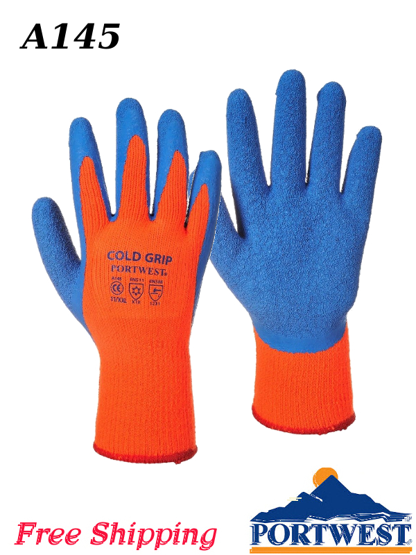 Portwest A145, Cold Grip Glove with Thermal Protection/FREE SHIPPING/$ per Pair