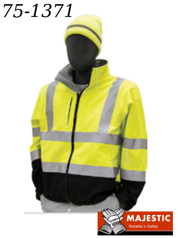 75-1371, Hi-Viz Water Resistant Softshell Jacket and Lines, ANSI 3, Type R/$ per Jacket