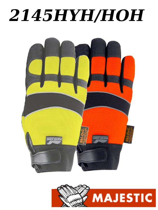 Majestic 2145HOH/2145HYH, Hi Vis Waterproof, Armor Skin Winter Lined Gloves/$ per Dozen