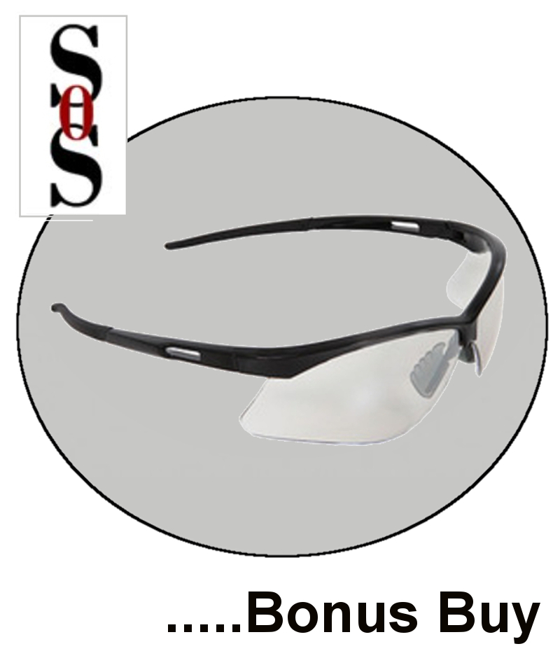 Premier Reading Eyewear - 2.0 Diopter with Clear Lens and Black Frame