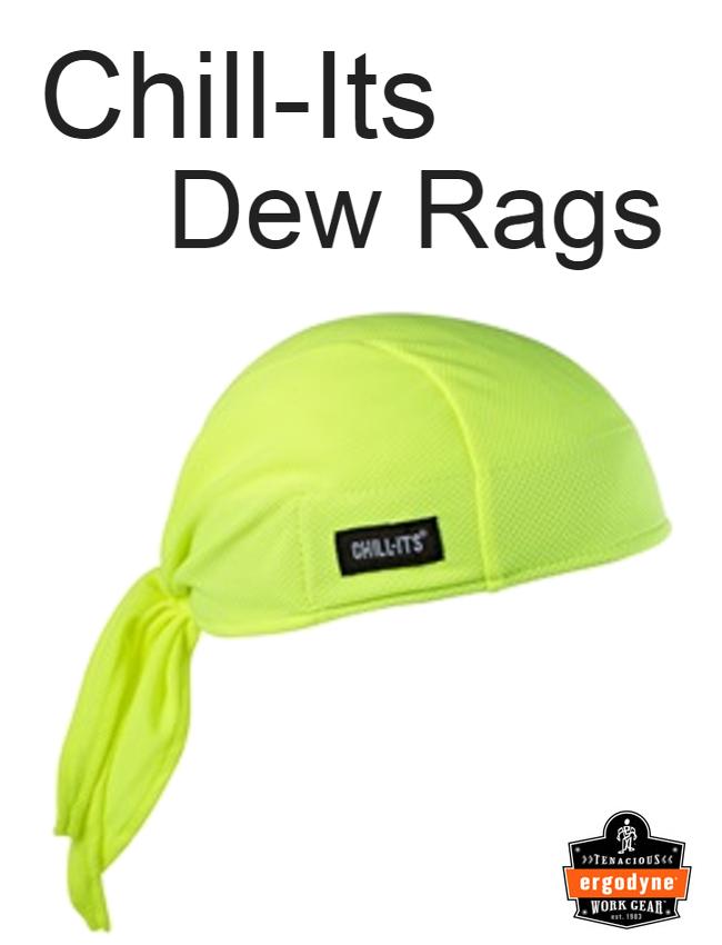 Ergodyne Chill-Its 6615 High Performance Dew Rag / Minimum Order 6