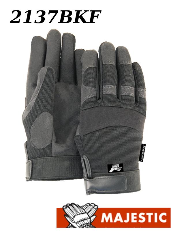 Majestic 2137BKF, Winter Hawk, Armor Skin Mechanic Style, Fleece Lined Gloves/$ per Dozen
