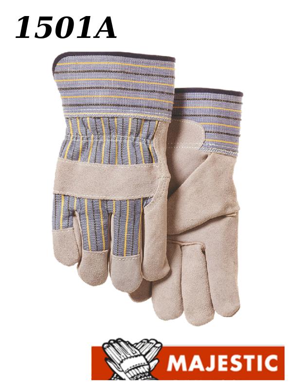 MAJESTIC 1501A,  Side Split Cowhide Leather Palm Work Glove/$ per Dozen