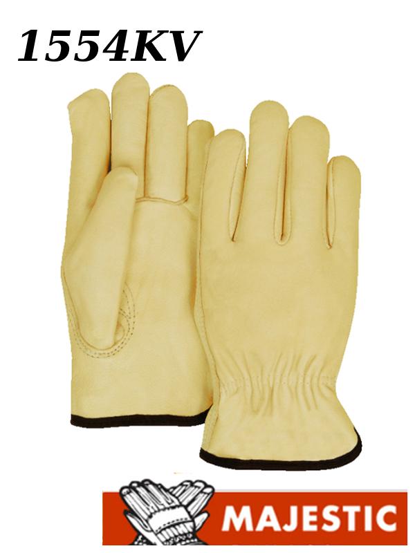 Majestic 1554KV, A-Grade Goatskin Leather Driver Gloves with Kevlar Lining/$ per Dozen