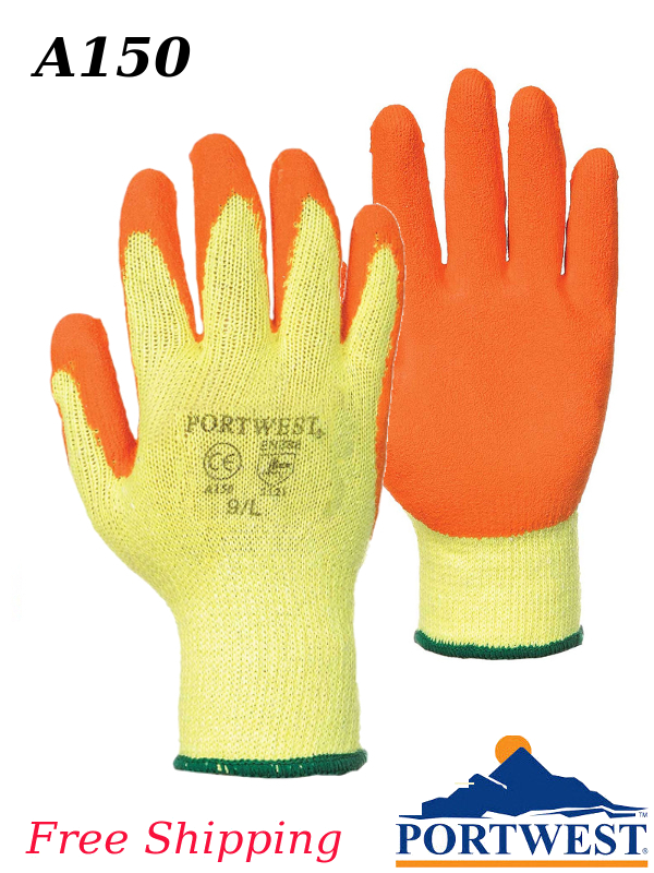Portwest A150, Fortis Grip Latex Glove/FREE SHIPPING/$ per Pair