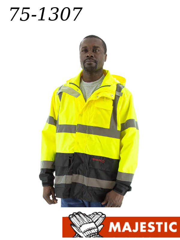 Majestic 75-1307 Hi Vis Lime and Black Bottom, Waterproof with D-Ring Pass Thru