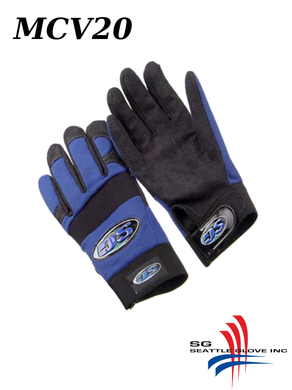 Seattle Glove MCV20, Synthetic Leather Mechanic's Anti-vibration Glove with Gel Palm/$ per Pair