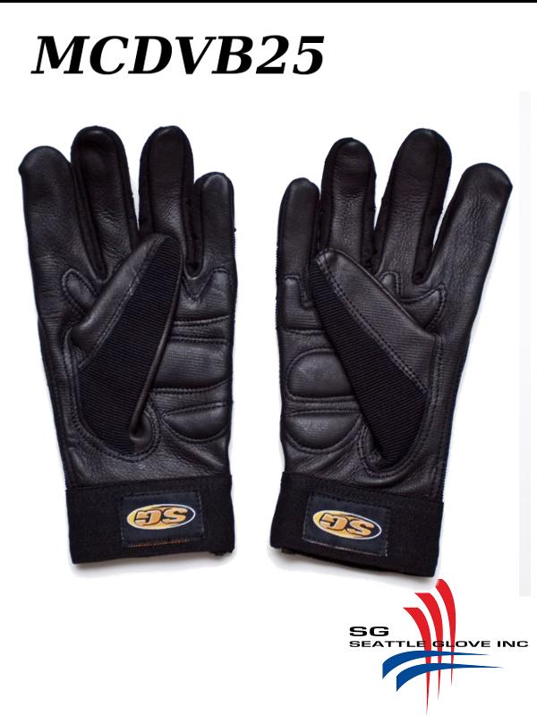 Seattle Glove MCDVB25, Black Premium Deerskin Leather Mechanic's Anti-Vibration Glove with Gel Palm/$ per Pair