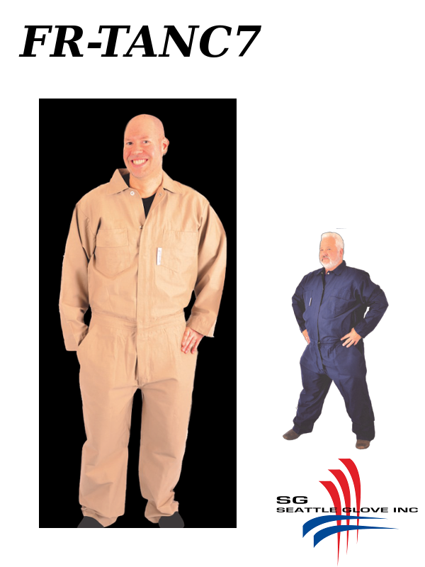 Seattle Glove FR-TANC7, Fire Retardant Tan Cotton Coveralls/$ per Pair