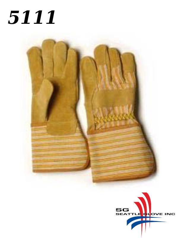 "Seattle Glove 5111, Drivers Glove with Pigskin Split Leather Palm, and 4.5"" P.E. Cuff/$ per Dozen"