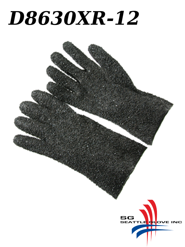 "Seattle Glove D8630XR-12, PVC Coated, 12"" EXTRA Rough Grip Finish, Interlock Lined Gloves/$ per Dozen"