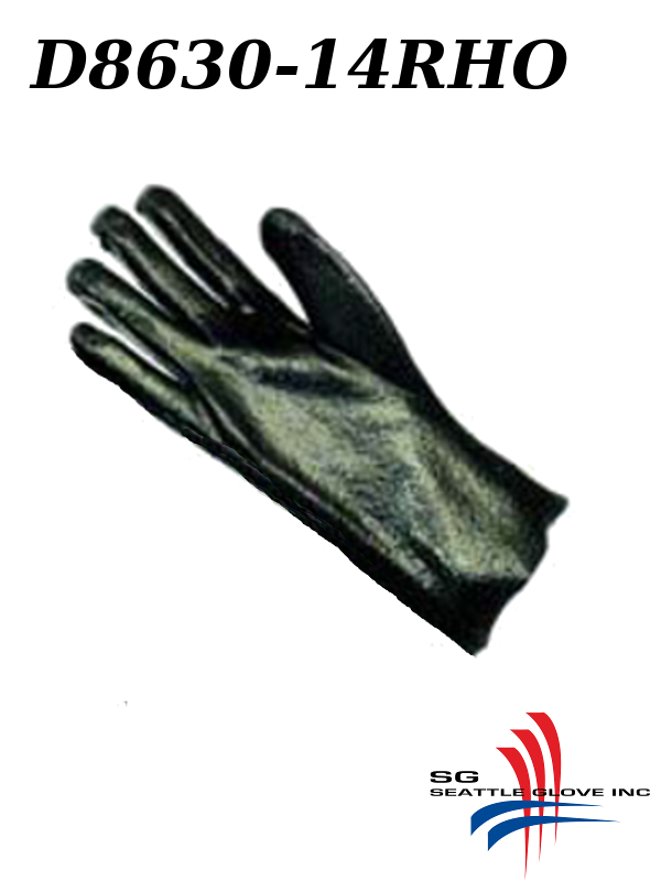 """Seattle Glove D8630-14RHO, RIGHT HAND ONLY, PVC Coated, 14"""" Rough Finish, Interlock Lined Gloves/$ per Dozen"""